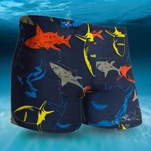 Red Sharks Print Men Male Swimming Trunks Briefs Boxer Shorts Bathing Suit Swimwear Swimsuit Swim Pool Pants Beach Swim Wear men contrast panel letter print swim briefs