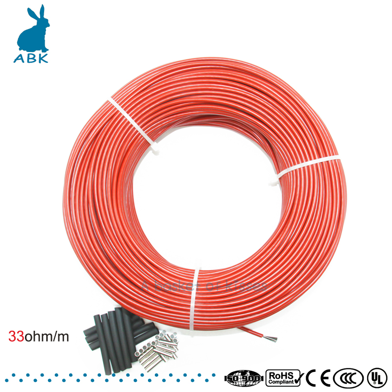 Low Cost Carbon Warm Floor Cable Carbon Fiber Heating Wire Electric Hotline New Infrared Heating Cable недорго, оригинальная цена