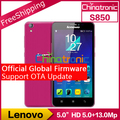 "Nueva original de lenovo s850 global firmware phonr móviles mtk6582 quad-core android4.4 dual-sim wcdma 5.0 ""ips 1g ram 16g rom 13.0mp"