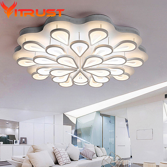 Bright Living Room Ceiling Lights Small Couches Creative Peacock High Led Lamp For Bedroom Style Ultra Thin Light Fixtures