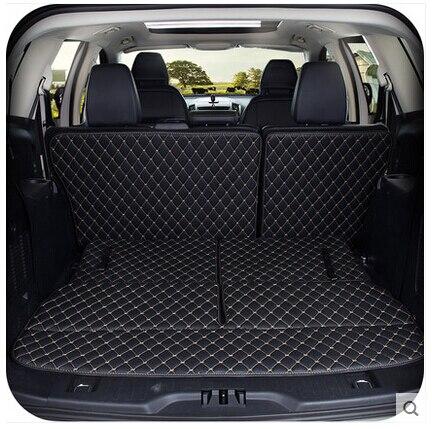 Bonne qualité! Tapis de coffre spéciaux pour Ford Edge 7 sièges 2015 tapis de bagages en cuir imperméable durable pour Edge 15, livraison gratuite