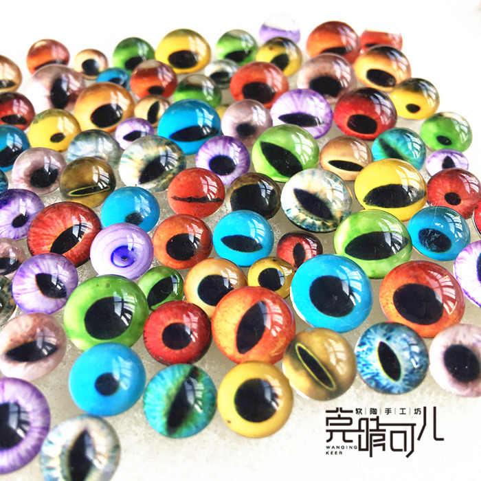 2Pcs/Pair Clay Mould Eyes Animal Eyeball Glass+Plastic Puppet Glass Model Making Box Packaging Pottery Ceramics Tool Diameter8mm