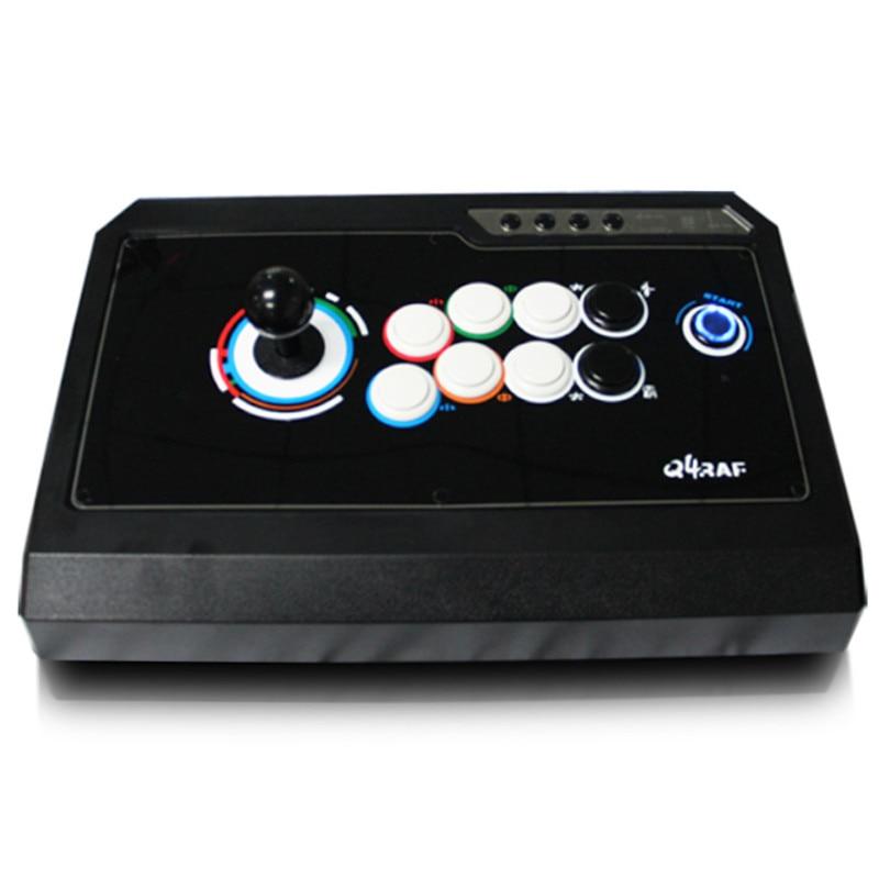 Nouveau jeu Triple fonction joystick arcade combat sans délai USB ordinateur Fluorescence Arcade lutte rocker PC jeux poignée