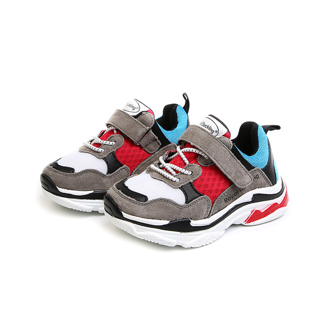 Children Shoes 2018 Autumn New Kids Sports Shoes Boys Sneakers Patchwork Mesh Toddler Baby Girls Casual Shoes 1 4 6 years