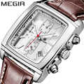 Megir Original montre hommes haut de gamme Quartz montres militaires en cuir véritable robe montre bracelet hommes horloge Relogio Masculino