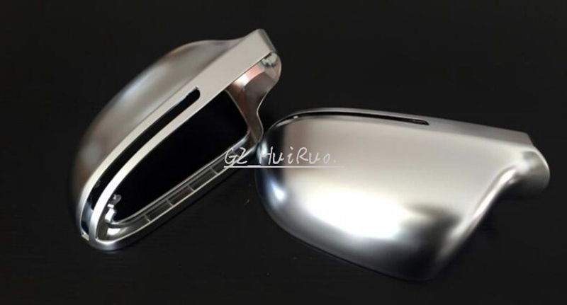 Auto parts 1 Pair Chrome Matt Cover Rearview Mirror Case Side Mirror For Audi A4 B8 A5 A6 C6 A8 Q3 abs mirror cover chrome matt painted cap side mirror housings for volkswagen jetta golf 5 passat b6 ct
