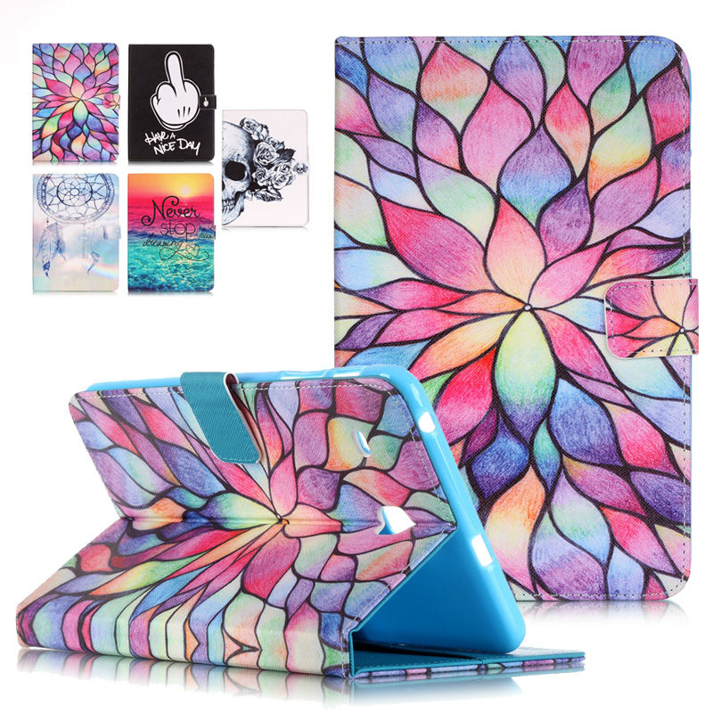 Stand Tablet PU Leather Cover Case For Samsung Galaxy Tab E 8.0 T377 T377V SM-T377 T375 Fundas Coque W/Card Slots