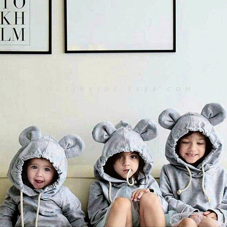 bears rabbit ears cool girls boys cute fashion sweatshirt autumn spring winter for children lovely gifts kids tops hooded coats