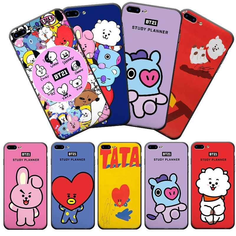 Bangtan Boys BTS BT21 Kawaii Phone Case Soft Frame Hard Back Phone ...