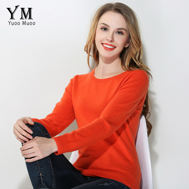 Yuoomuoo New High Quality Sweater Women Casual O Neck Plus Size