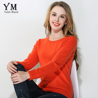 YuooMuoo New High Quality Sweater Women Casual O Neck Plus Size Cashmere Sweater Autumn Solid Women