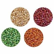 LOULEUR Approx.3000pcs 2.3 millimetri Multicolor Perle di Vetro Ceco Pendenti E Ciondoli Seed Beads Kralen Branelli Del Distanziatore per i Monili di DIY Che Fanno