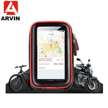 ARVIN 3.5-6.2 inch Waterproof Bicycle Motorcycle Phone Bag Holder For IPhone X Bike Cycling Mobile Support Stand GPS Mount
