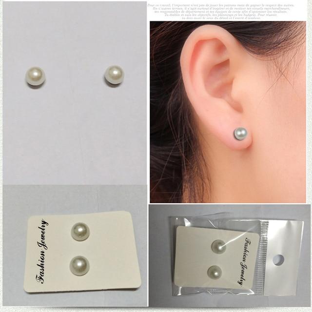 1d1d6da8f Magnet stud earring Non Piercing Clip on Magnetic Ear Stud Mens Womens Fake  Earrings 3 pairs/pack