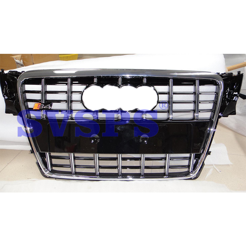 High Quality ABS Front Middle Grille S4 Style For Audi A4 B8 S Line 2008-2012 2x no errors xenon white 50w p13w c ree led bulbs drl for 2008 12 audi b8 model a4 or s4 with halogen headlight trims