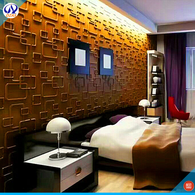 Neat and convenient Bedroom Living room 3D stereo PVC Decorative Wallpaper DZAS-CJ Panel