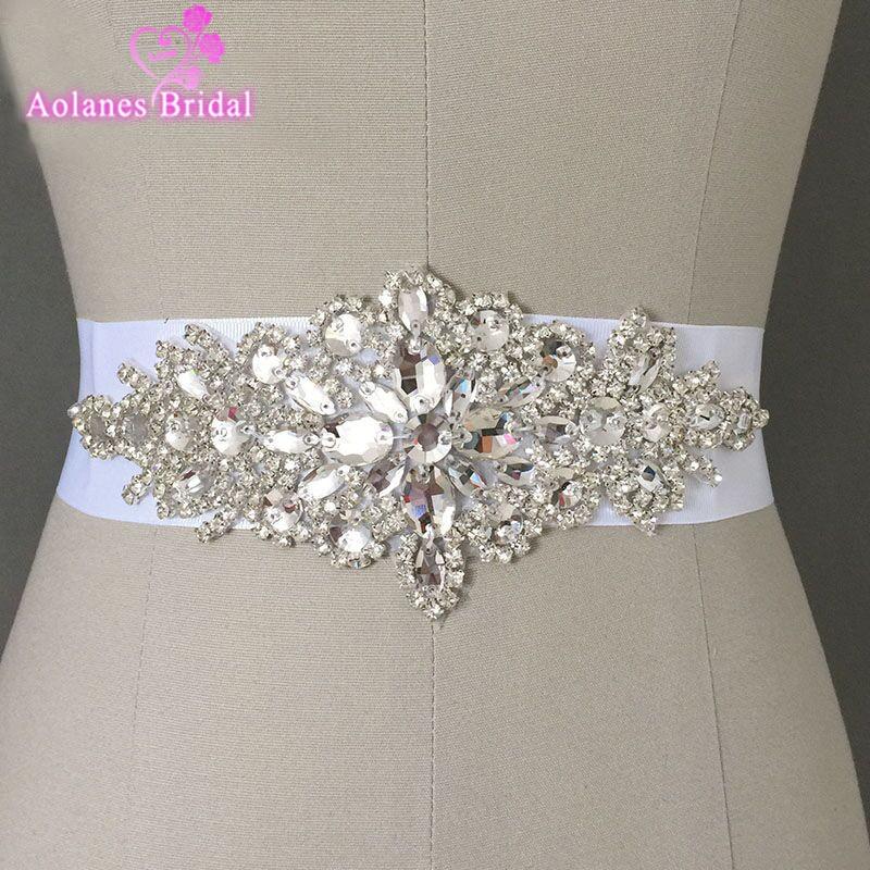 Exquisite Heavy Beading Sashes Rhinestone Crystal Wedding Belt For Bridal Wedding Accessory Wedding Cheap In stock