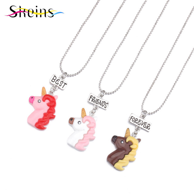 Skeins 3pcs best friends forever acrylic charms animal horse skeins 3pcs best friends forever acrylic charms animal horse necklaces pendants for kids women girl long mozeypictures Choice Image