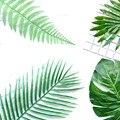 Искусственные растения зеленый лист Декоративные Цветочная композиция интимные аксессуары Palm арековая Пальма листья Monstera дома Свадебные украшения - фото