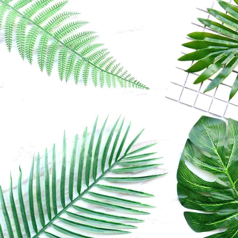 Mākslīgie augi Zaļās lapas dekoratīvie ziedu kompozīcijas - Svētku piederumi