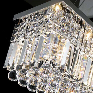 Image 5 - جديد الحديثة كريستال الثريا لغرفة الطعام مستطيل ثريا تركب بالسقف Manggic