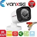 Vanxse CCTV 1/3 CMOS 1000TVL 24 LEDs IR-CUT D/N Interior Bala Câmera de Vigilância Câmera De Segurança De Áudio do Microfone