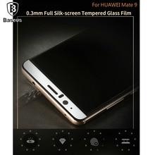 Baseus Huawei Mate 9 Телефон Общий Охват 0.3 мм взрывозащищенные Шелкография Закаленное Стекло Полный Экран Фильм передний Экран