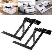 OOTDTY Mesa con marco de elevación multifuncional, 1 par, centro de mesa con mecanismo de elevación, bisagra de resorte, Hardware