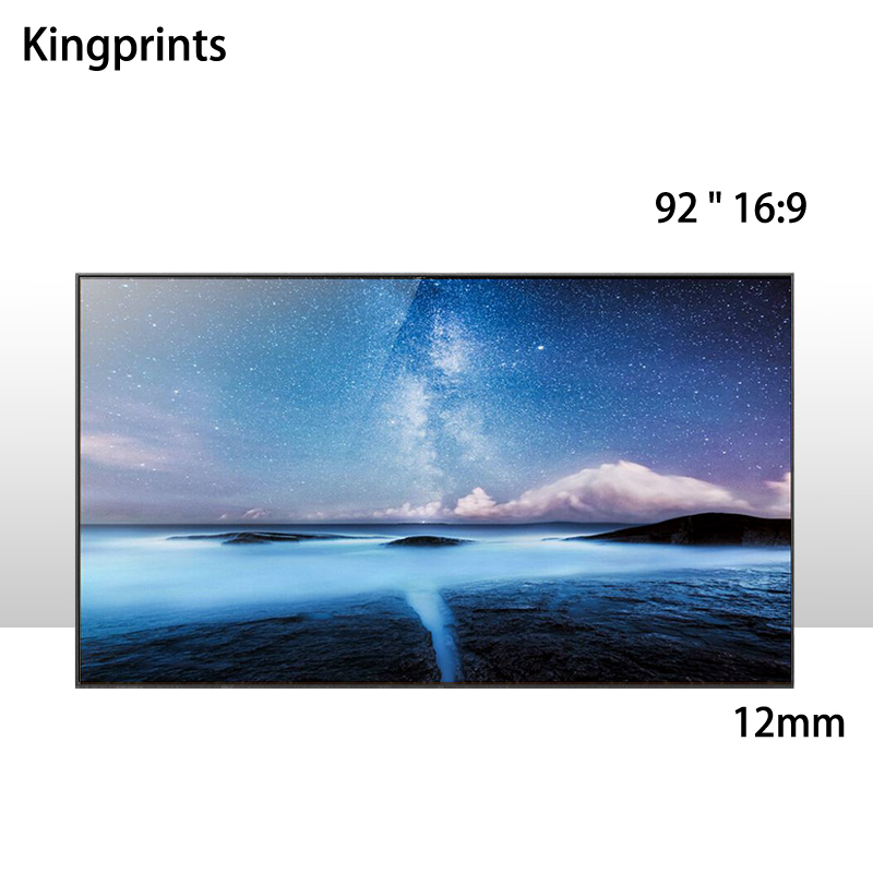 HD 92inch 16x9 Widescreen Ultra Thin Boundary 12mm Matte White Fixed Frame Projection Screen For Home Cinema Projector 92 16 9 aluminum in ceiling recessed electric projector screen 4k ultra hd ready hdtv in ceiling electric projector screen
