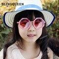Lindo Girls & boys del bebé 2016 NUEVO diseño al por mayor Fábrica de lentes Redondas gafas de sol de Moda UV400 niños niños gafas de sol n694
