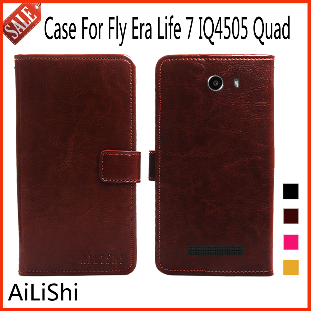 AiLiShi For Fly Era Life 7 IQ4505 Quad Case Book Style High Quality Wallet Flip Leather Case Phone Bag Tracking Number