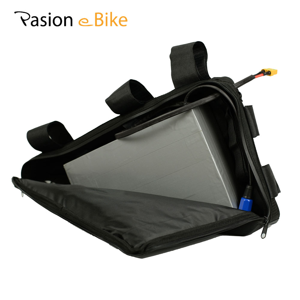 PASION E BIKE 52V 20.3ah Battery For Electric Bicycle Lithium 52V Triangle Battery Samsung Cell E Bike Battery With 5A Charger customize 51 8v 35ah lithium ion battery triangle style 52v 1500w electric bike battery with bag bms for sanyo ga3500 cell