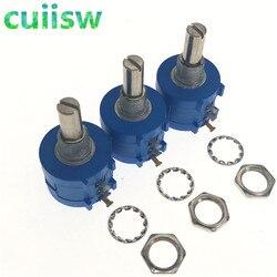 10 Uds 3590S-2-103L 3590S 10K ohm precisión potenciómetro multivuelta 10 anillo ajustable resistencia