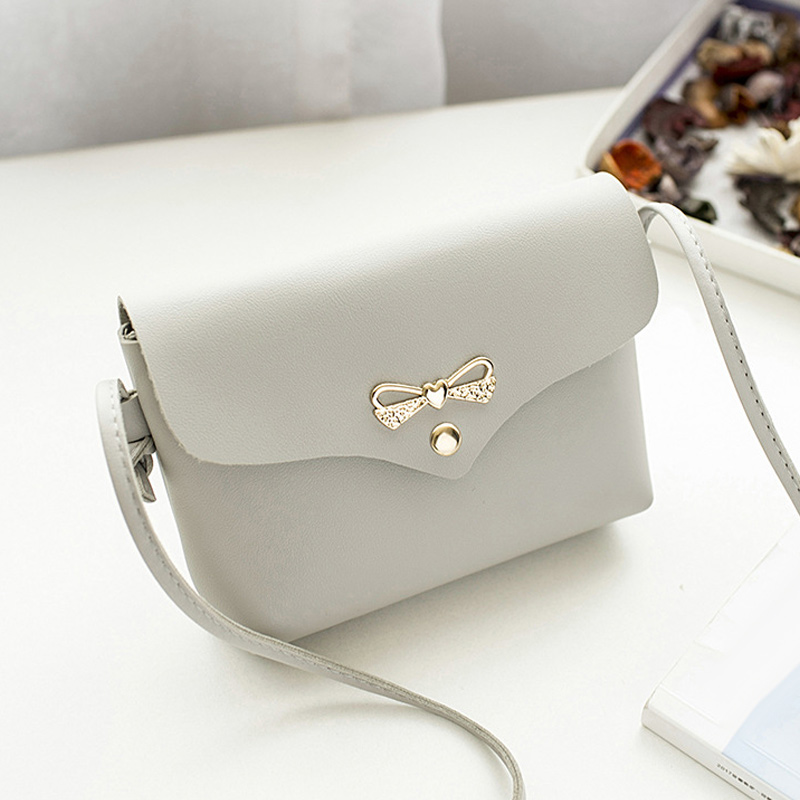 Women Lady Girl Shoulder Crossbody Bag PU Leather Bowknot Fashion For Mobile Phone Money LXX9