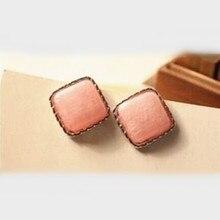 2019 ventas al por mayor caliente nuevos regalos de joyería dulce belleza Vintage rosa caja pendientes Accesorios