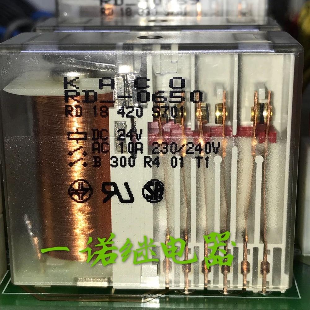 Safety Protective 24V relay RD-0650 RD 18 420 S 701 RD18420S701 DC24V 24VDC 24V 10A 230VAC 240VAC 14PIN red rd 420 white блендер