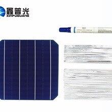 XINGPUGUANG 20 шт 0,5 В 4,8 Вт Солнечная батарея DIY модуль+ 0,15*1,6 мм табинг таб провод+ 0,2*4,0 мм PV шина провод+ флюс Ручка Diy панель