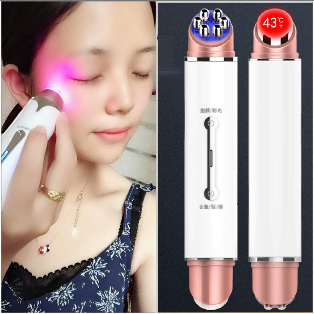 Light Therapy Skin Rejuvenat Pen Wrinkle Removal Dark Circles Puffiness Treatment Device Facial Massager Eye Galvanic Care Pen