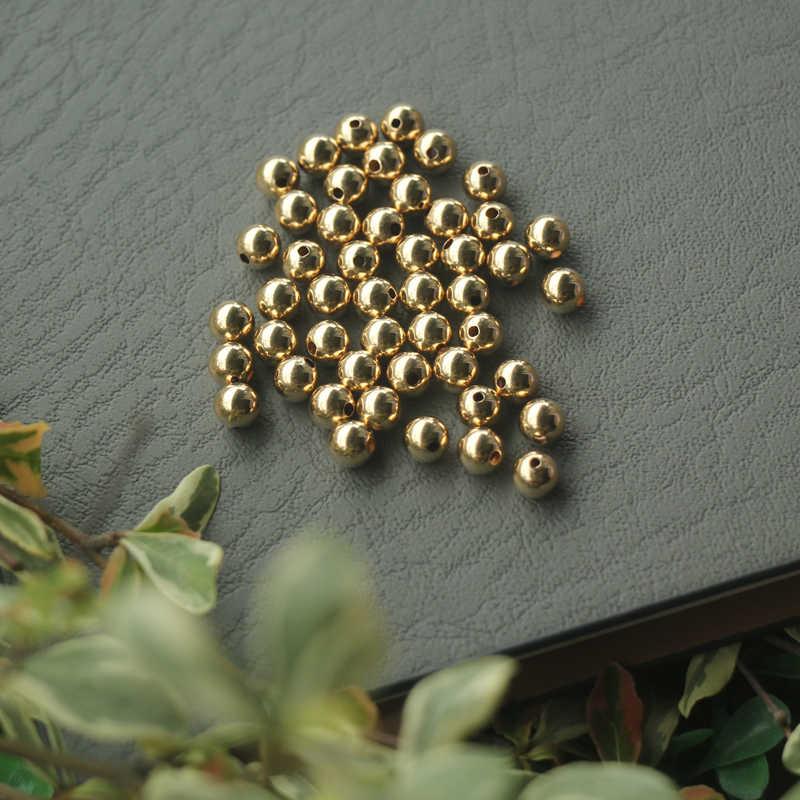 10 adet, 14K altın dolgulu İnci aksesuarları bilezik kolye DIY aksesuarları bölümü boncuk