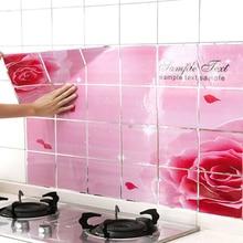 1 шт. самоклеющиеся наклейки на плитку, бумага, высокотемпературные кухонные маслостойкие наклейки, анти-масляная газовая плита, керамическая плитка, наклейки на стену
