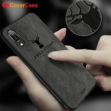 For Huawei P20 Pro Case P20 lite Case Christmas Deer Back Cover Fabric Business Bat Capa Coque Huawei P20 Case Phone Accessory(China)