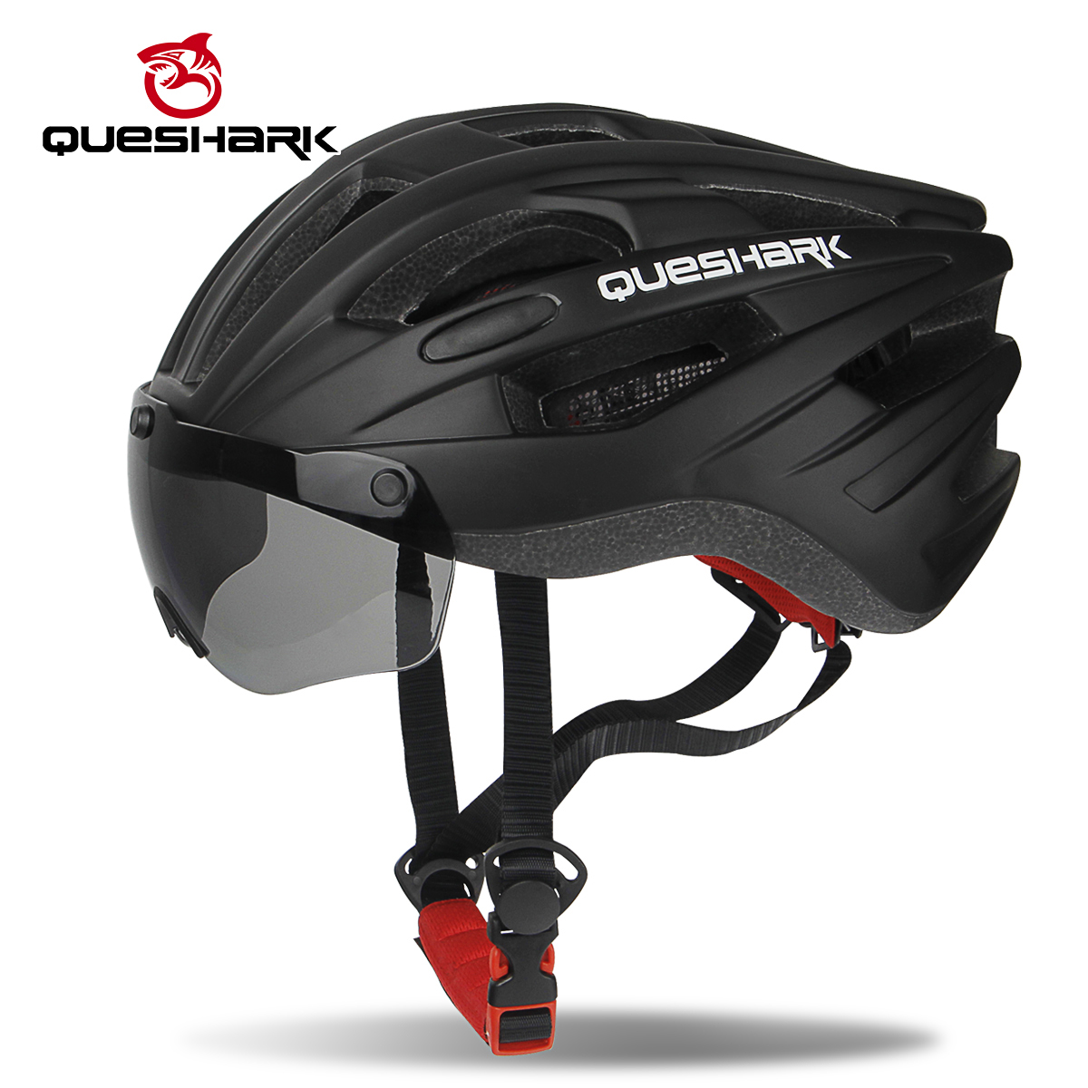 QUESHARK Bike Helmets Goggles Road Mountain Safety Windproof Removable-Lens MTB