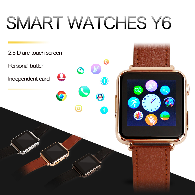2016 New Y6 font b Smart b font HD Touch Screen font b Watch b font