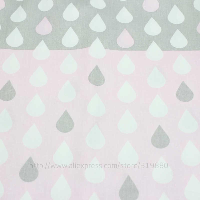الغيوم الزرقاء و قطرات المطر الطفل القماش النسيج 4 قطع وسادة القطن نسيج للخياطة خليط النسيج دمية الجسم القماش 40*50 cm