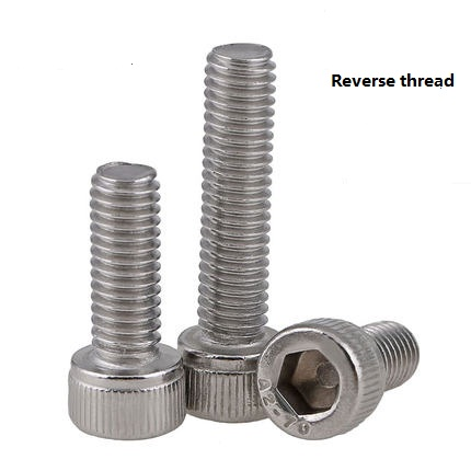 304 stainless steel Reverse thread / Left  Left-handed Cup head insiade hexagonal bolts M6 M8 M10 M12304 stainless steel Reverse thread / Left  Left-handed Cup head insiade hexagonal bolts M6 M8 M10 M12