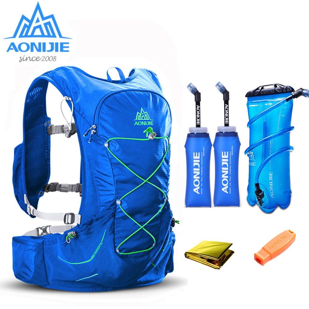 AONIJIE sac de course léger en plein air sac à dos d'hydratation sac de sport vessie en option pour la randonnée Camping course Marathon