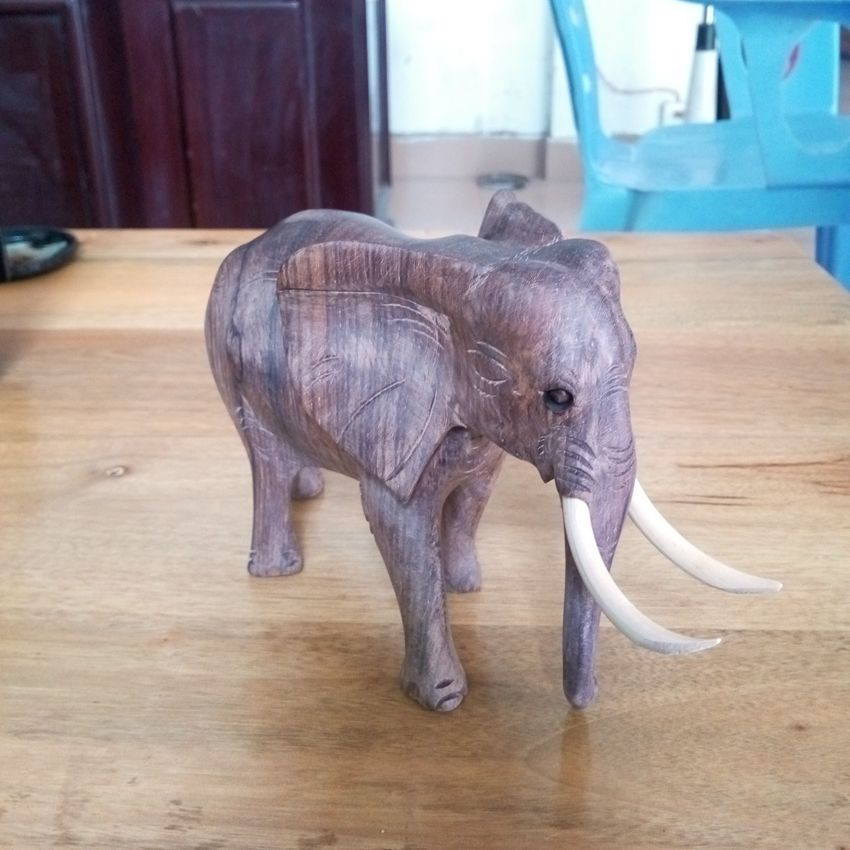 Wood carving elephant, Home Furnishing ornaments, Home Furnishing repair jewelry, crafts, gifts(A355)