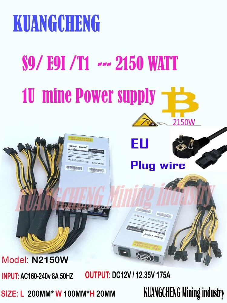 ASIC Miner BTC Miner NEW ZEC BTC LTC DASH Miner PSU  2150w Supply For Antminer S7 S9k S9 Se L3+ B7  Ebit E9i  E9+ Z9 Z11 Z1PRO