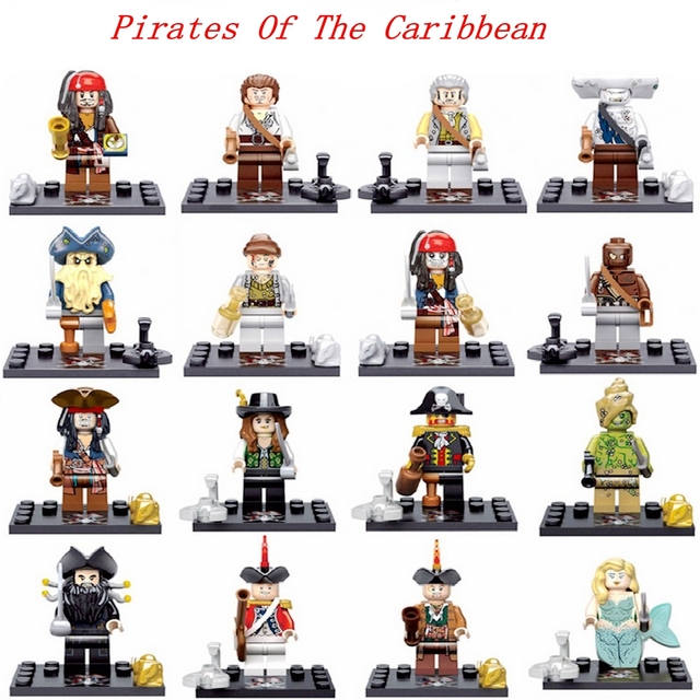 Legoing Pirates Of The Caribbean Figure Jack Henry Building Block Model Compatible With Legoings Figures DIY Toys For Children