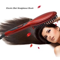 Hot Sale Electric Hair Brush Professional Hair Straighter Comb Fast Heating Hair Straight Iron Tool 5